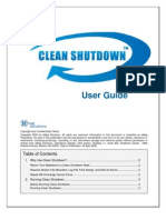 Clean Shutdown User Manual
