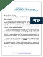 Comunicado 1 VI Convención Juvenil Vicentina