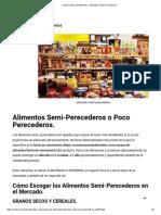 Conservación de Alimentos , Alimentos Semi-Perecederos