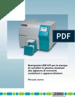 manuale stampante UV