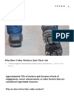 Why Blue-Collar Workers Quit Their Job
