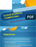 Cloud Computing/Storage
