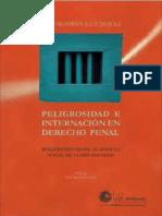 Peligrosidad e Internación en Derecho Penal