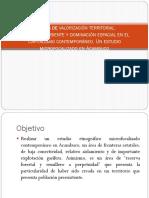 Formas de Valorización Territorial
