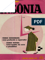 Insônia (Sua Cura Radical) - Drº Adrian Vander - 1971 - Editora Mestre Jou