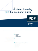 Blockchain Powering the internet of value