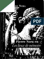 Pierre Nora en Les Lieux de Memoire - Pierre Nora