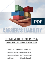 Carrier Liability
