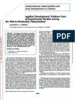 Malnutrition and Cognitive Development Evidence Fr