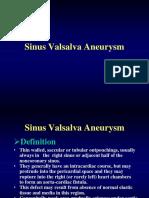 Sinus Val Salva Aneurysm