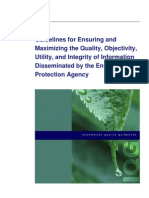 EPA Info Quality Guidelines