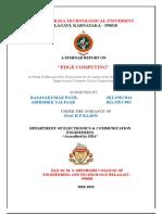 Seminar Report Edge Computing