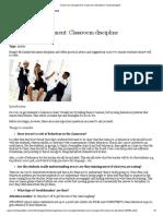 Classroom Management - Classroom Discipline