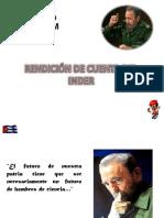 RENDICIÓN DE CUENTA DEL INDER