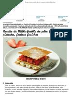 Recette de Mille-feuille de Pâte Filo à La Pistache, Fraises Fraîches Facile