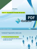 Aula 04 Inteligência Empresarial - EAD - ESTÁCIO