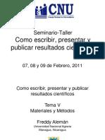 como escribir presentar y publicar resultados cientificos
