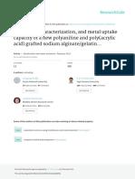 Sorción de Ni(II) y Cu(II) Con Acido Poliacrilico y Grafted de Alginato Gelatina