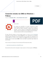 Conexión Remota Vía CMD en Windows - PsExec - IngDiaz