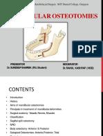 Mandibular Osteotomies Sundeep