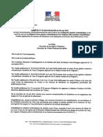 Le nouvel arrêté préfectoral et la liste des communes concernées par les restrictions