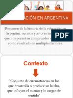 La Educación en Argentina