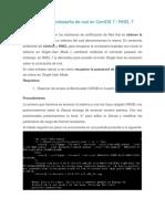 Recuperar contraseña de root en CentOS 7