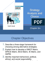 Chapter 6 - Strategy Analysis and Choice