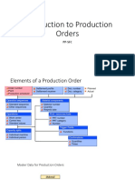 PP-SFC Introduction to Production Orders