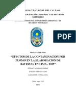 Efectos de La Contaminacion de Plomo en La Fabricacion de Baterias