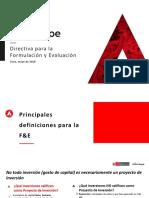 Directiva Para La Formulación y Evaluación v2 - Evento MEF