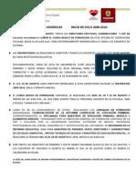 Indicaciones Generales Para Inicio de Ciclo 2009