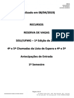 Resultado Recursos Reserva de Vagas 4ª e 5ª 08-04-2019