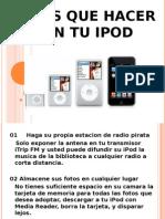 utilidades del ipod