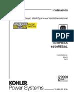 Generadores Sur - Manual de Instalacion Kohler a gas - En español.pdf