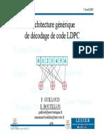 Architecture Générique de Décodage de Code LDPC