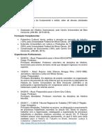 Igor Da Silva Nunes - Curriculum