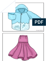 Picture Flashcards (Clothes) for Teaching English to Kids