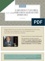 Normas, Hechos y Valores, La Tridimensionalidad del Derecho