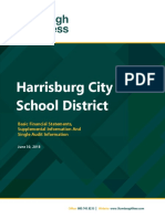 2018 annual audit report for Harrisburg School District