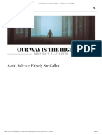 Avoid Science Falsely So-Called – Our Way IS the Highway.pdf