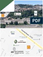 Localização Do Segundo Encontro Florestal Urbano ZNRJ.