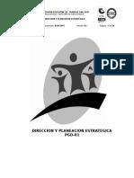 Pgd-01 Direccion y Planeacion Esstrategica v01
