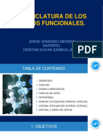 exposición sobre nomenclatura en la quimica organica