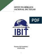 Catalogo de IBIT 2018 2019