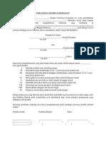 surat perjanjian ubahsuai rumah