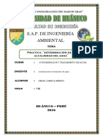 Determinacion de La Alcalinidad - Agua