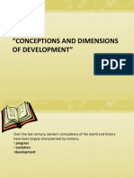 Conceptions and Dimensions of Development