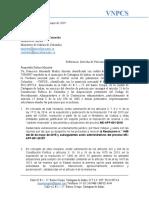 Derecho de Petición a Mincultura 3 de Mayo de 2019