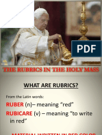 Rubrics in the Holy Mass
